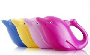 High Quality Outdoor Product Four Colors Dolphin Shape Watering Can