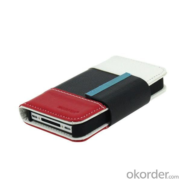 For iPhone4/4S Wallet Pouch Lichee Pattern PU Leather Case Cover Colourful