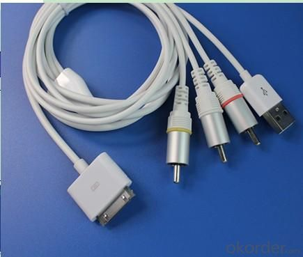 Apple AV Cable ORIGINAL IC iPhone 4/4GS IPAD2 iPhone3G/3GS iPod touch iPod classic iPod nano
