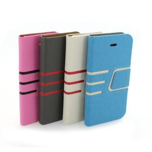 Wallet Pouch Cross Pattern PU Leather Stand Case Cover for iPhone5/5S Blue