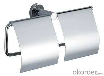 Luxury Bath Accessories Modern Chrome-plated Rectangle Roll Holder
