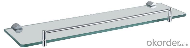 Luxury Bath Accessories Modern Chrome-plated Glass Shelf