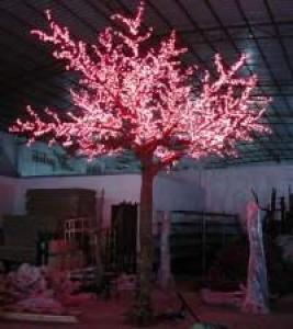 LED Artifical Peach Tree Lights Flower String Christmas Festival Decorative LightRed/Yellow 752W CM-SLFZ-12528L1