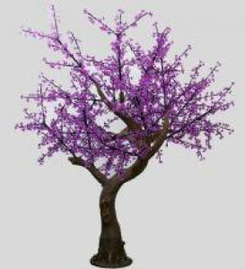 LED Artifical Cherry Tree Lights Flower String Christmas Festival Decorative Light Pink/Purple/RGB 116W CM-SLFZ-1920L3