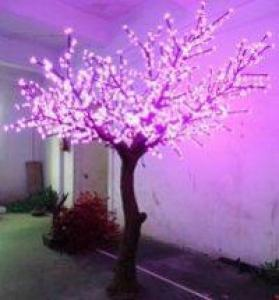 LED Artifical Peach Tree Lights Flower String Christmas Festival Decorative LightRed/Yellow 144W CM-SLFZ-2400L1
