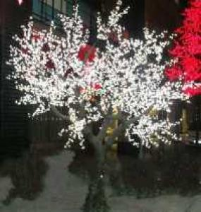 LED Artifical Peach Tree Lights Flower String Christmas Festival Decorative LightRed/Yellow 369W CM-SLFZ-6144L1