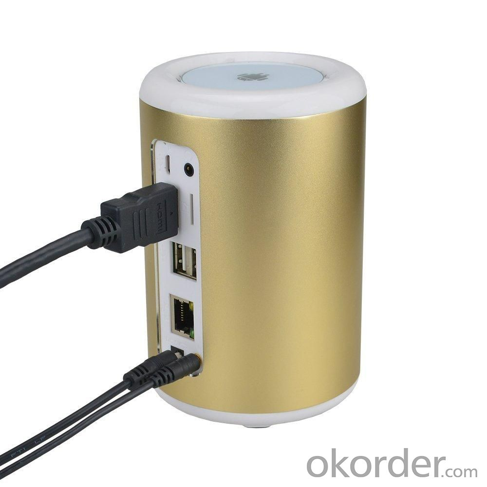 Q8 Andriod TV Box Quad Core Android 4.2.2 OS Mini TV BOX 2G 8G 2.0MP Camera Mic Bluetooth Golden