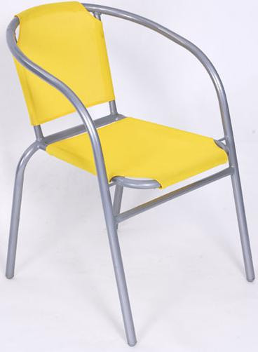 Hot Selling Outdoor Furniture Classical Yellow Steel Leisure Chair