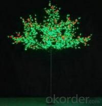 LED Fruit Tree String Christmas Festival Light Green Leaves+ Ograne 139W CM-SLF-2304Lo