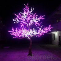 LED Artifical Peach Tree Lights Flower String Christmas Festival Decorative LightRed/Yellow 415W CM-SLFZ-6912L1