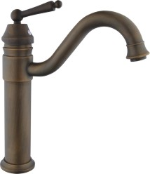 Single Handle Bathroom Faucet Antique Color  Spout Shape Basin Mixer