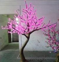 LED Artifical Cherry Tree Lights Flower String Christmas Festival Decorative LightRed/Yellow 116W CM-SLFZ-1920L1