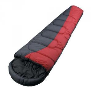 High Quality Outdoor Product Nylon Ripstop Red And Black Waterproof Sleeping Bag