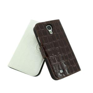 For Samsung Galaxy S4 (I9500) Stand Case Cover Wallet Pouch Luxury PU Leather White