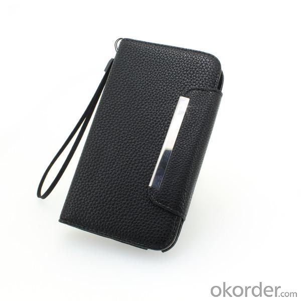 Wallet Pouch Luxury PU Leather Book Style Case Cover for Samsung Galaxy S4 (I9500) Black