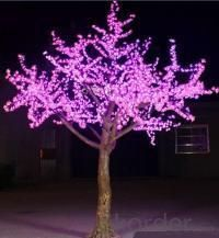 LED Artifical Peach Tree Lights Flower String Christmas Festival Decorative LightRed/Yellow 208W CM-SLFZ-3456L1