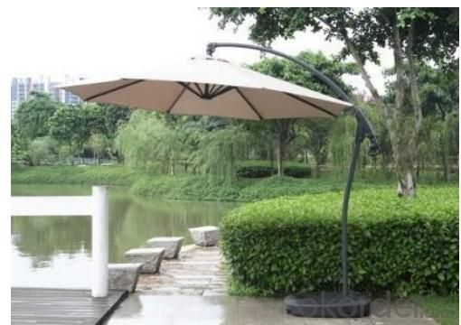 Hot Selling Outdoor Market Umbrella Light Color Offset Umbrella Polyester