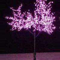 LED Tree Light Peach Flower String Christmas Festival Decorative LightRed/Yellow 104W CM-SLP-1728L1