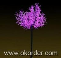 LED Tree Light Peach Flower String Christmas Festival Decorative LightRed/Yellow 415W CM-SLP-6912L1