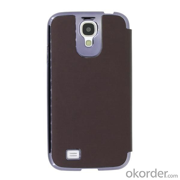 Hot Sale Wallet Pouch Luxury PU Leather Case Cover for Samsung Galaxy S4 (I9500) Dark Brown