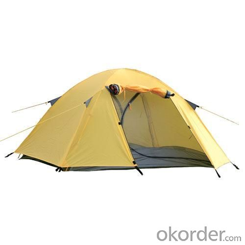 High Quality Outdoor Product 210T Polyester Yellow Camping Tent