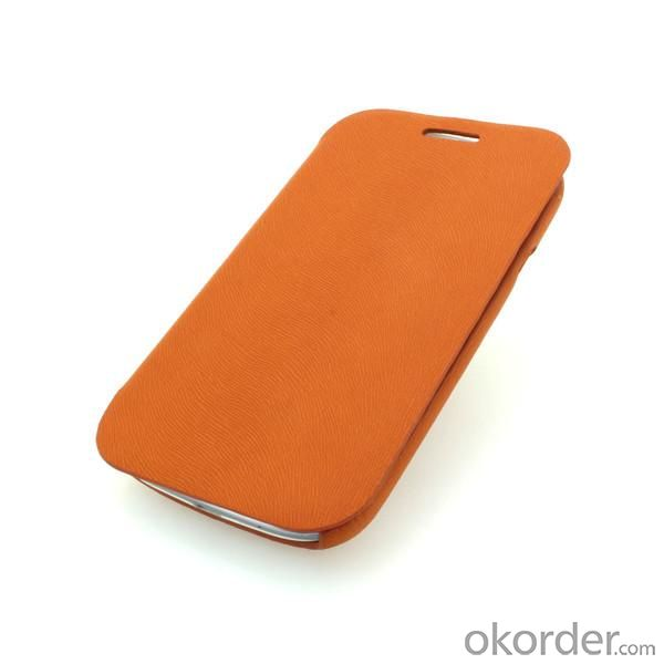 Wallet Pouch Luxury PU Leather Case Cover for Samsung Galaxy S3 (I9300) Orange