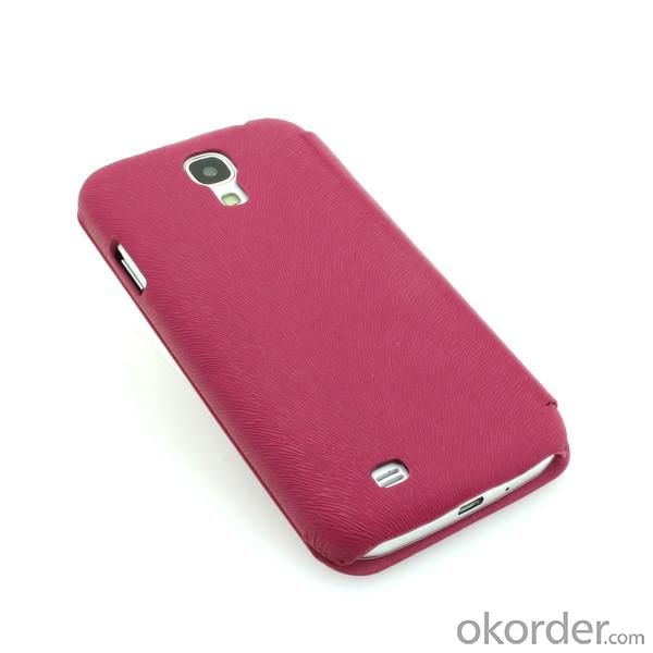 Luxury PU Leather Case for Samsung Galaxy S4 (I9500) Wallet Pouch Cover Rose