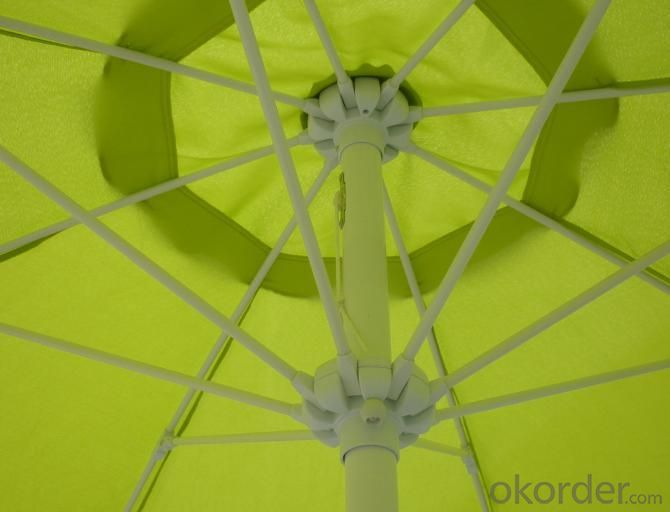 Hot Selling Outdoor Market Umbrella Green Offset Umbrella 160g Polyester