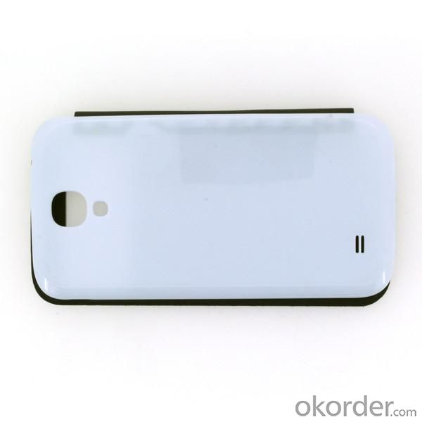 Front Hollow Luxury PU Leather Case Cover for Samsung Galaxy S4 (I9500) Black and White