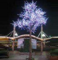 LED Artifical Peach Tree Lights Flower String Christmas Festival Decorative Light Pink/Purple/RGB 752W CM-SLFZ-12528L3