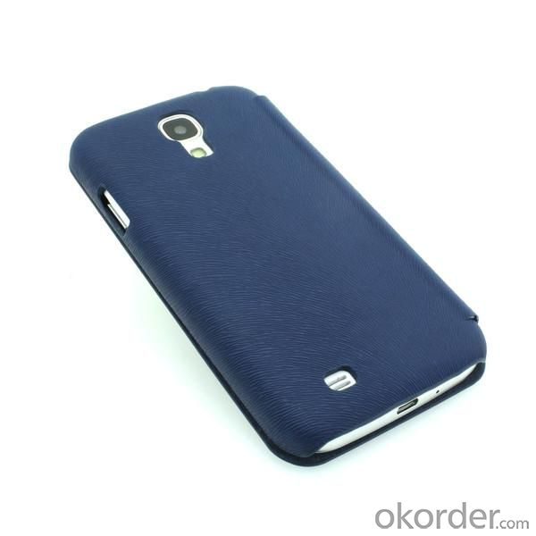 Wallet Pouch Luxury PU Leather Case Cover for Samsung Galaxy S4 (I9500) Blue