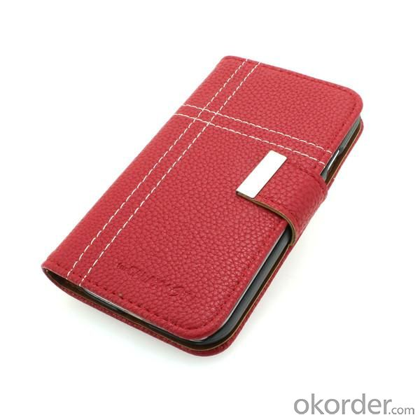 Hiht Quality For Samsung Galaxy S4 (I9500) Wallet Pouch PU Leather Stand Case Cover Red