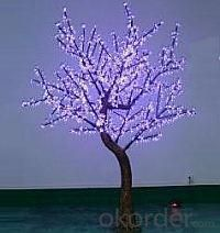 LED Artifical Cherry Tree Lights Flower String Christmas Festival Decorative LightRed/Yellow 70W CM-SLFZ-1152L1