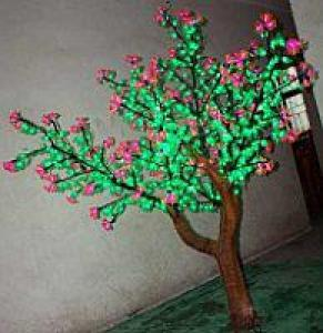 LED Artifical CuckooTree Lights Flower String Christmas Festival Decorative White Flowers+ Green Leaves 82W CM-SLFZ-1356L1