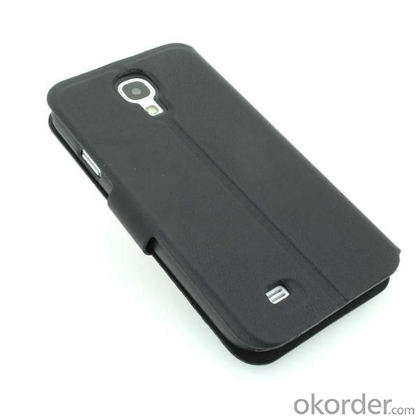 Luxury PU Leather Wallet Pouch Stand Style Case Cover for Samsung Galaxy S4 (I9500) Black