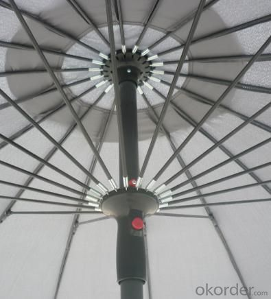 Hot Selling Outdoor Market Umbrella Glass Fiber And Aluminum Offset Umbrella Polyester