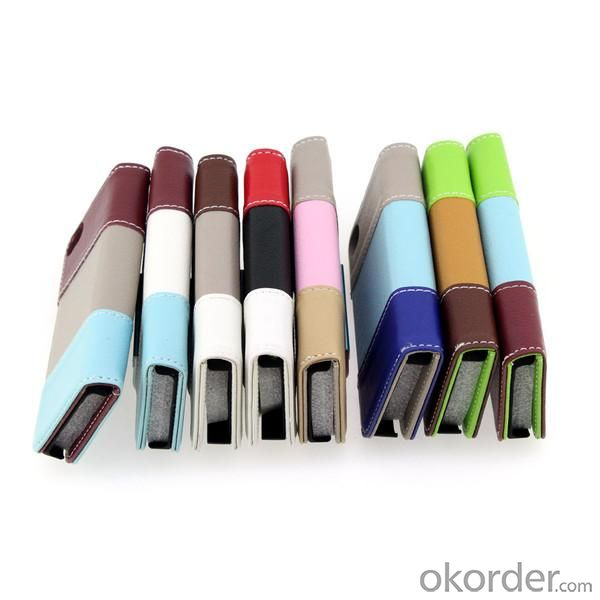 2014 New Book Style Litchi Grain Quanlity PU Leather Case For iPhone 5 5S With Money Credit Card Slot Holder