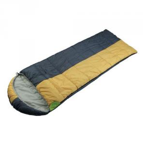 High Quality Outdoor Product Polyester Yellow And Gray Sleeping Bag