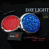 Auto Lighting System DC 12V Roud LED Car Light Red CM-DAY-091
