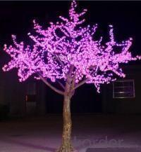 LED Artifical Peach Tree Lights Flower String Christmas Festival Decorative Light Pink/Purple/RGB 175W CM-SLFZ-2916L3