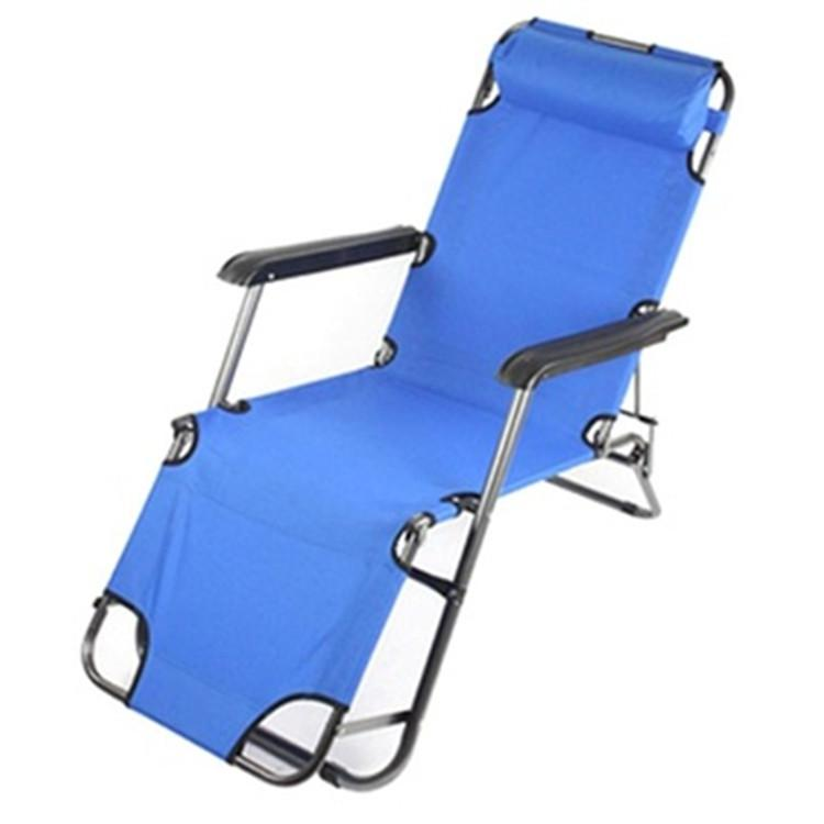 Hot Selling Beach Chair With Neck Pillow Blue Deck chair L