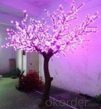 LED Artifical Peach Tree Lights Flower String Christmas Festival Decorative Blue/Green/White 144W CM-SLFZ-2400L2