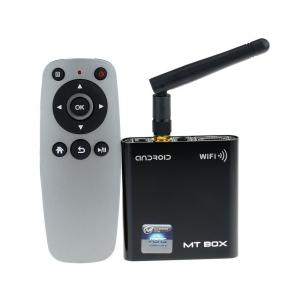 MT-05 Mini Android TV Box A31S Quad Core 2GB 8GB Android 4.1 External Wifi Antenna Remote Control  Black