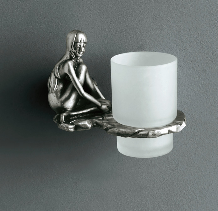Artistic Bath Accessories Can Be Collection Silver Tumbler Holder