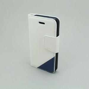 Cross Pattern PU Leather Case Cover for iPhone5/5S Wallet Pouch White