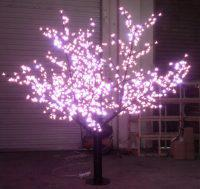 LED Tree Light Peach Flower String Christmas Festival Decorative Light Pink/Purple/RGB 52W CM-SLP-864L3