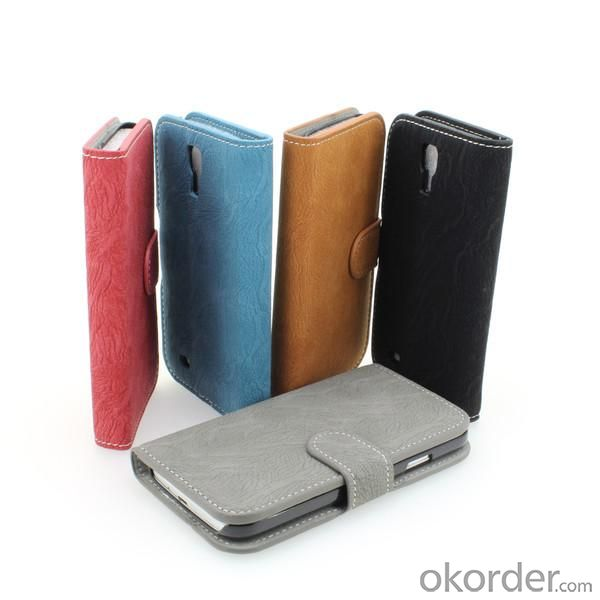 Galaxy S4 (I9500) Blue Wallet Pouch PU Leather Stand Case Cover for Samsung