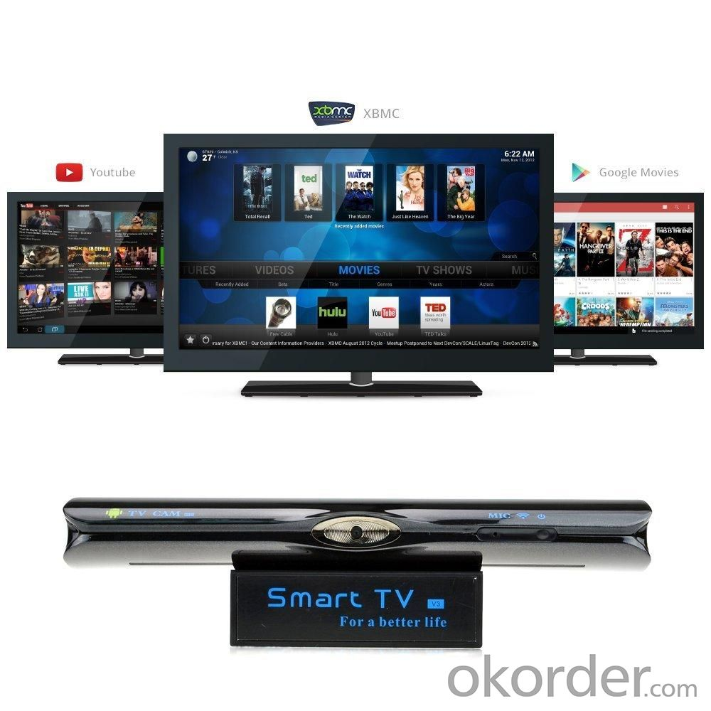 Smart TV V3 Dual Core 1GB RAM 8GB ROM Android 4.2 1080P TV Box Media Player Built-in 2M HD Camera And MIC
