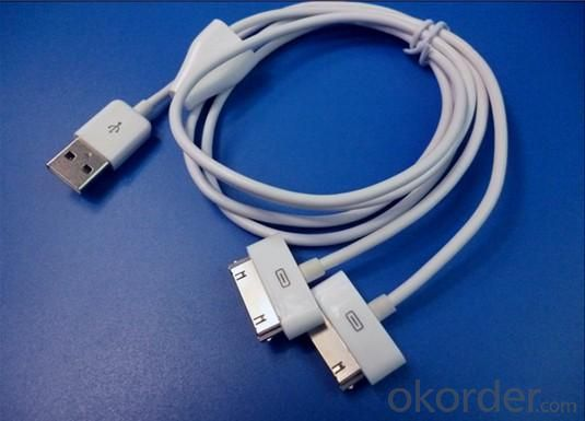 Apple Cable USB interface convert two 30pin interface iPhone 4  iPhone3G/4GS iPod touch iPod classic iPod nano