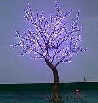 LED Artifical Cherry Tree Lights Flower String Christmas Festival Decorative Blue/Green/White 70W CM-SLFZ-1152L2